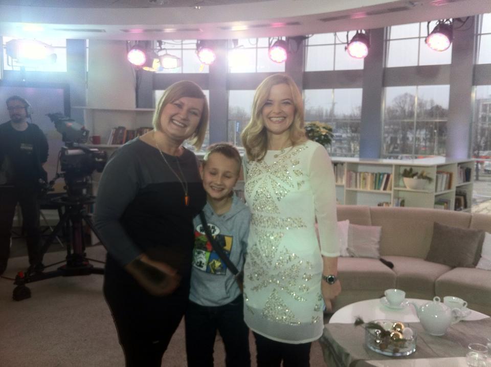 Z Miłoszem i Moniką Richardson w studio TVP
